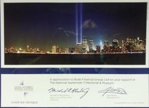 Charter member of The National September 11 Memorial & Museum